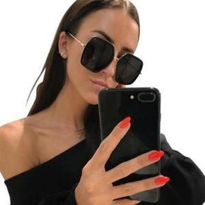 Gucci Square Sunglasses W/Grey Lens